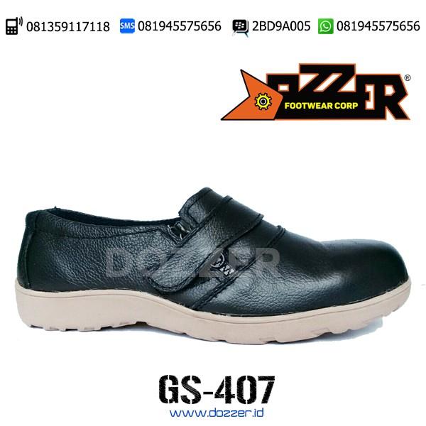 Sepatu Safety Ukuran 36,Dozzer GS407