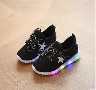Harga Terbaru Sepatu Lampu Led Anak Adidas Yeezy Hitam Star Black Di