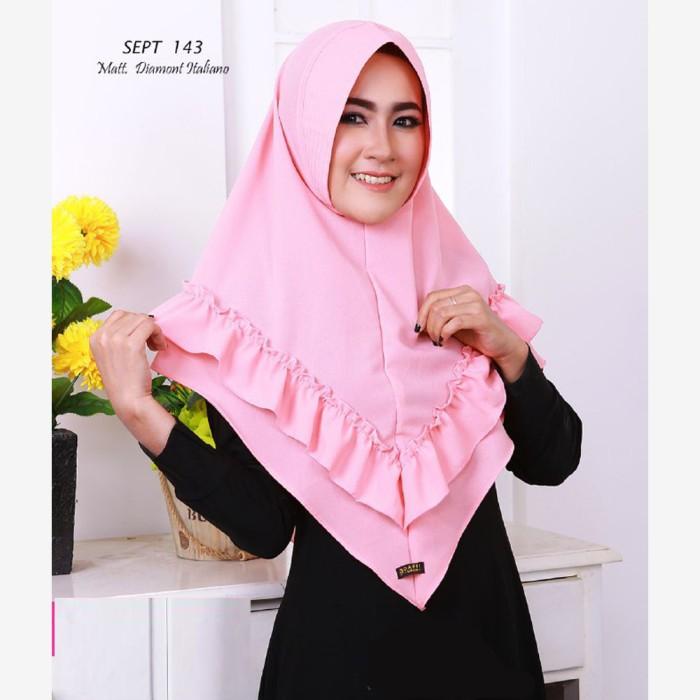 Jual Khimar Jilbab Hijab Ori Daffi Apr 13 Pink
