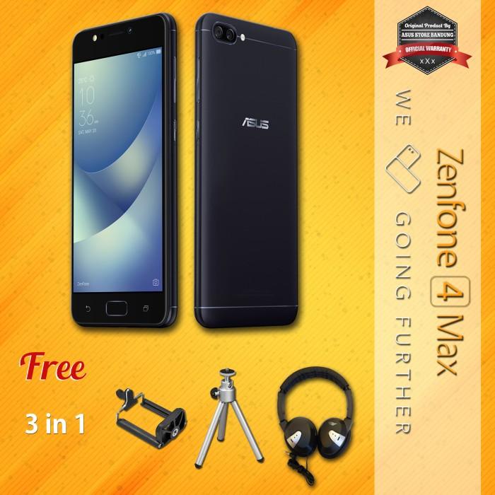 harga Asus zenfone 4 max zc520kl 4g 3/32 13mp + 5mp + 8mp + get free 3 in 1 Tokopedia.com