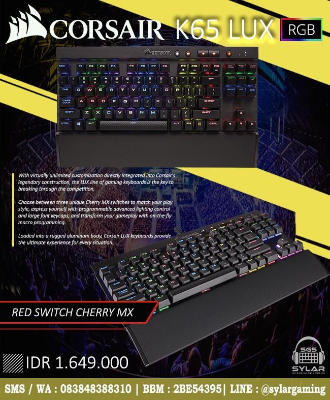 Jual Corsair K65 LUX RGB - Sylar Gaming Solution   Tokopedia