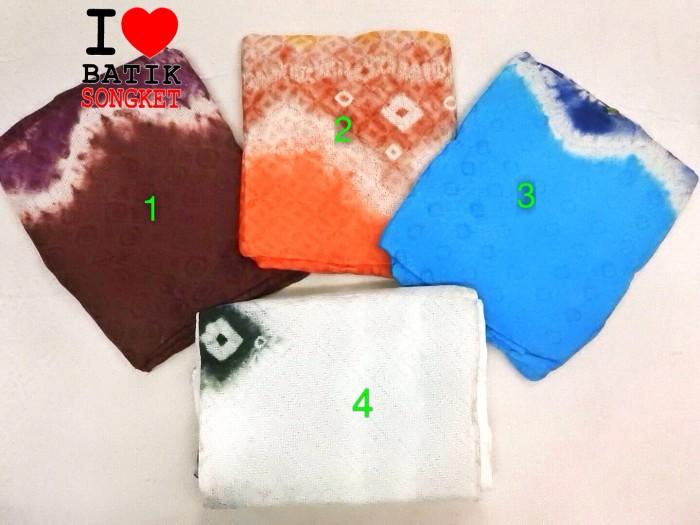 harga Viscos jumput asli bahan batik palembang kain kebaya baju batiksongket Tokopedia.com