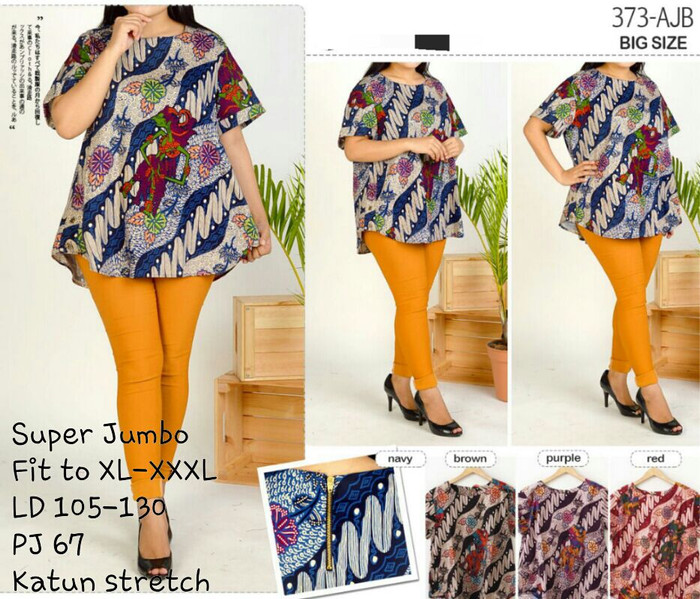 Jual Blus batik ukuran besar   blouse batik jumbo   batik wanita ... 2a97d755ed