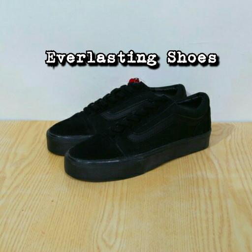 d5f15ec2dd Jual Sepatu Vans Sneakers Old School Black Waffle DT ICC Grade Ori ...