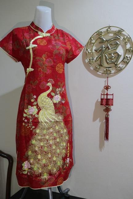harga Dress Cheongsam Merak Katun Murah Shanghai Tokopedia.com