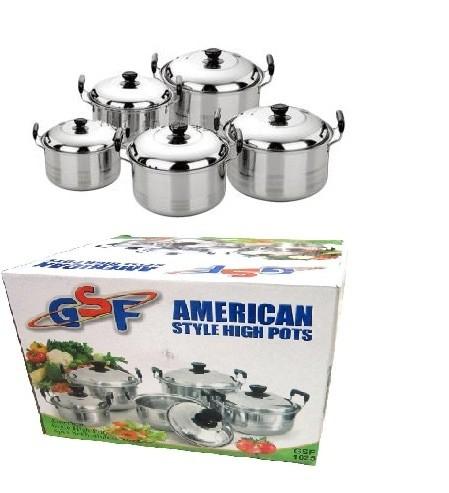 Panci Set 5 Pcs american style high pots Stainless Steel