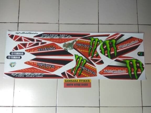 stiker / striping motor vixion NVL monster merah