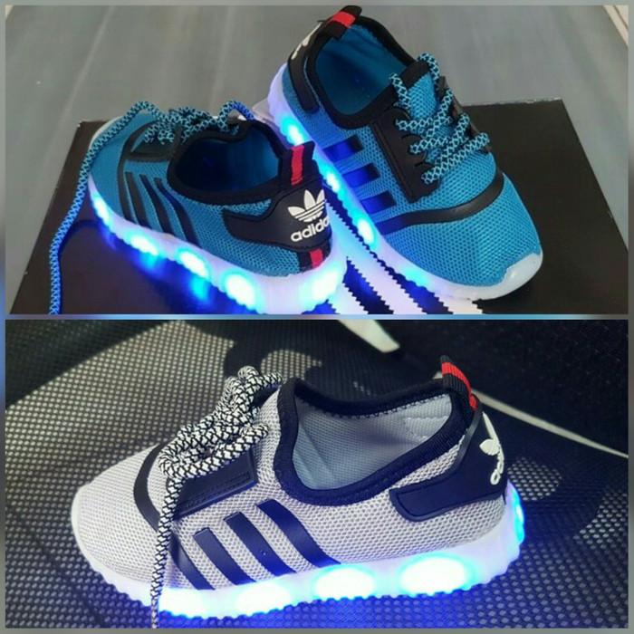 Jual Sepatu anak laki-laki cowok cewek lampu LED Adidas size 31-35 ... afa1acbc3d