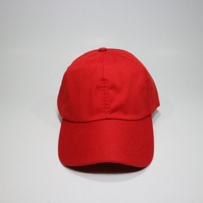 Jual Topi Polos Merah Harga Murah Bahan Twill Rell - jodandoh ... fb0ffbd265