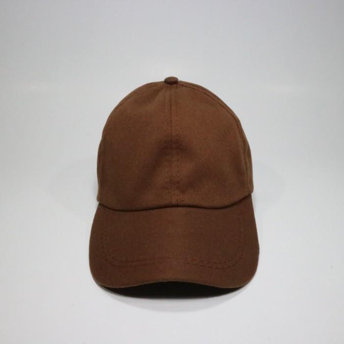 Jual Topi Polos Coklat Harga Murah Bahan Twill Rell - jodandoh ... 3b69902e51