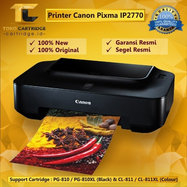Jual Printer Canon Pixma Ip 2770 New Inkjet Photo Ip2770 Printer Foto Canon Kota Surabaya Tokocartridgeonline Tokopedia