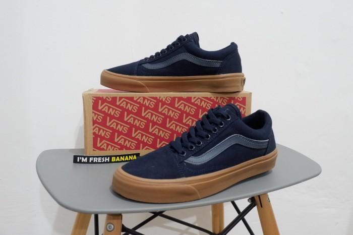 ... harga Sepatu vans old skool dress blue dark navy gum dt premium oldskool  Tokopedia.com b0c468e62