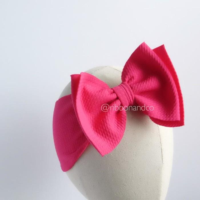 Ashley bow medium fuchsia / pita anak / pita bayi / ribbonandco