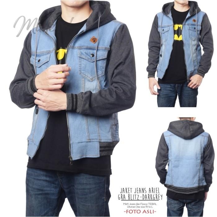 harga Jaket jeans ariel gra blitz-darkgrey / jaket jeans / jaket ariel noah Tokopedia.com