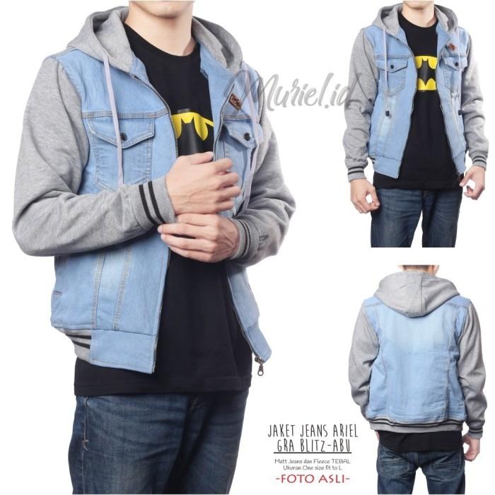harga Jaket jeans ariel gra blitz-abu / jaket jeans / jaket ariel noah Tokopedia.com