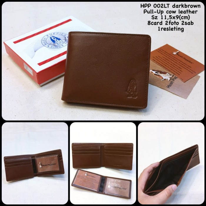 dompet hush puppies 002LT darkbrown replica dompet cowok dompet pria. Stok  produk kosong. f1d476b312