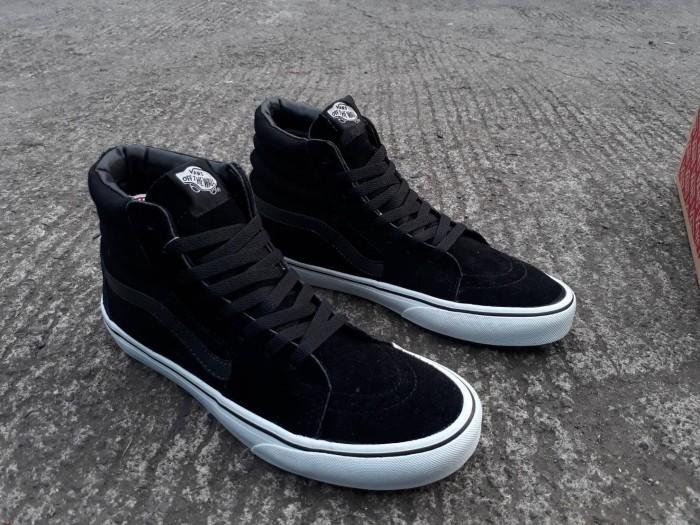 Jual Sepatu Vans Sk8 HI Black Dope Wafle IFC Premium Quality ... 716618f4e6
