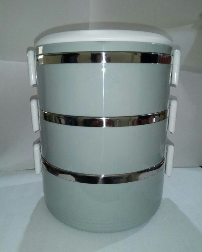 Rantang 3 Susun GLOSSY - Lunch Box Stainless Steel