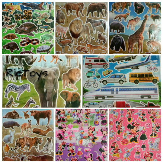 Sticker edukasi - Stiker motif animal/karakter