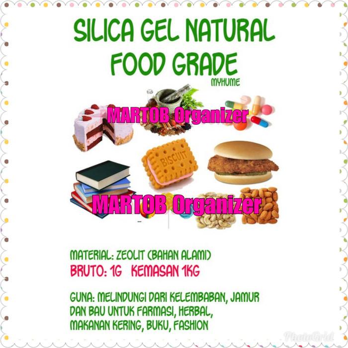 harga Silica gel food grade 1000gr 1kg silika makanan kue kering snack roti Tokopedia.com