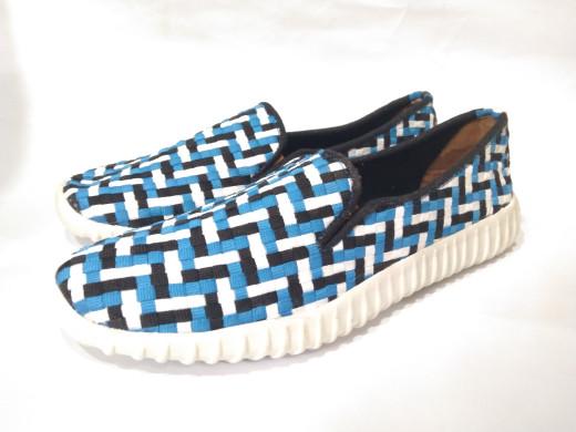 harga Sepatu flat wanita anyam rajut biru kiddo free box Tokopedia.com