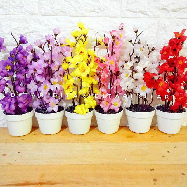 Jual bunga sakura bunga plastik artificial palsu dekorasi rumah ... 0f08a01569