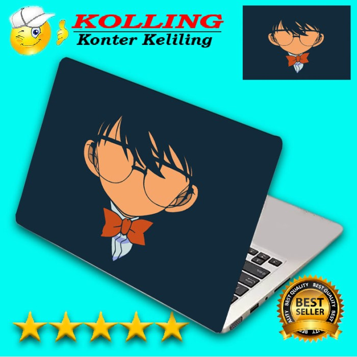 Garskin laptop anime conan skin laptop stiker laptop