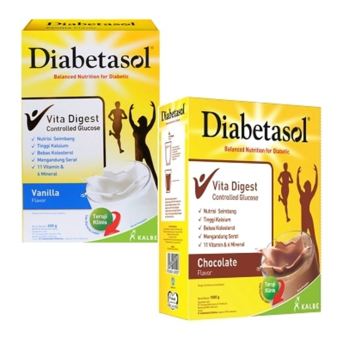 harga Kalbe diabetasol susu diabetes ada rasa vanila dan coklat - 1000 gram Tokopedia.com