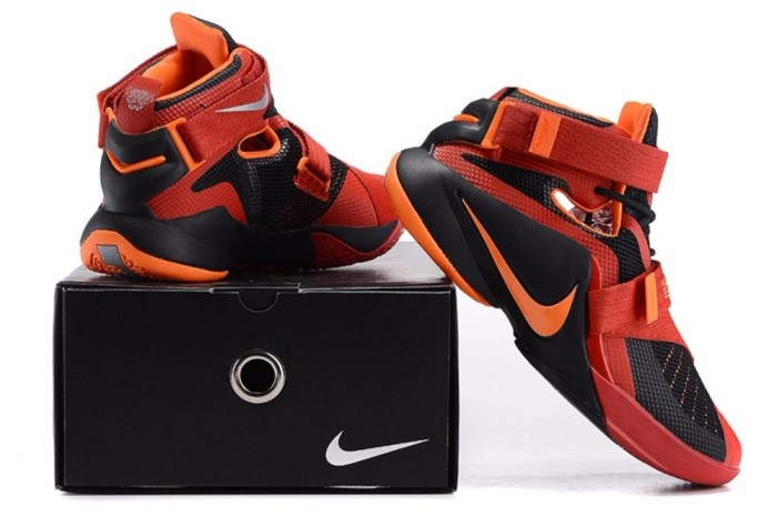 Jual bola basket online Sepatu Basket Lebron Soldier 9 Red Orange ... 3580ae220c