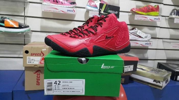 bola basket online Sepatu Basket LEAGUE LEVITATE Black Red bursa bola 026fa7a6e3