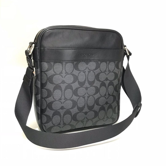 Tas Selempang Cowok Coach Original Men Flight Bag Messenger Sign Black 5d6a4a05ea