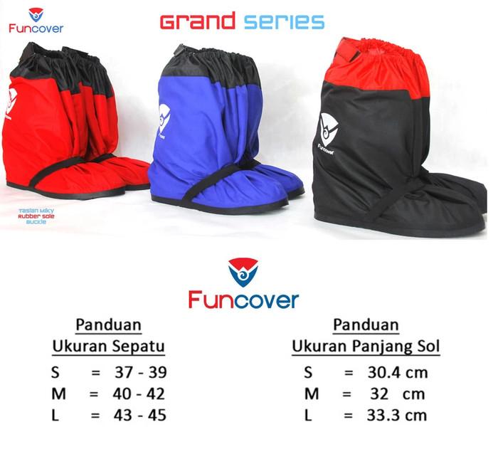New GRAND FUNCOVER V.02 Hitam, Rain Cover Shoes / Jas Hujan Sepatu
