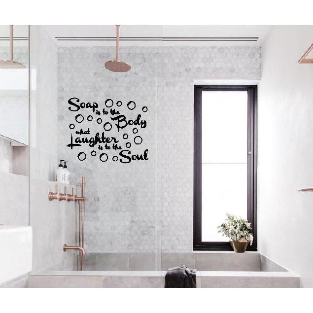 Jual Wall Stiker Body Soap Hiasan Toilet Kamar Mandi Dekorasi Dinding Kaca Dki Jakarta Stikershop Tokopedia