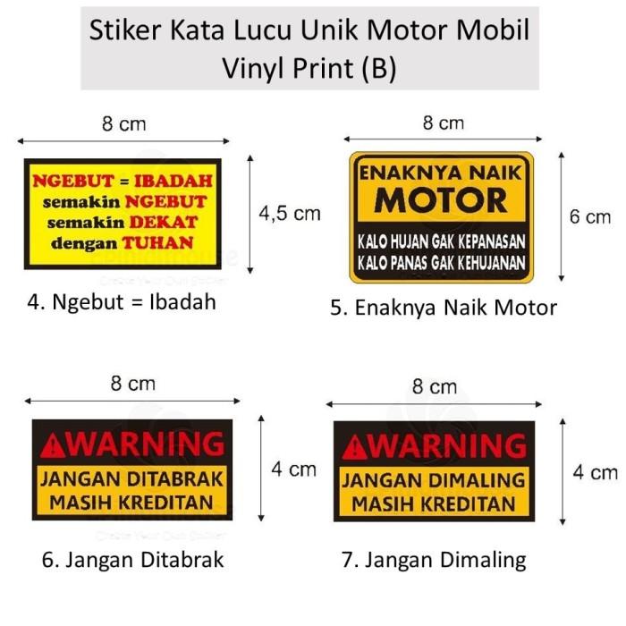 Jual Aksesoris Motor Mobil Spakbor Batok Sticker Vinyl (B) Lucu Unik Ngebut  - DKI Jakarta - stikershop | Tokopedia