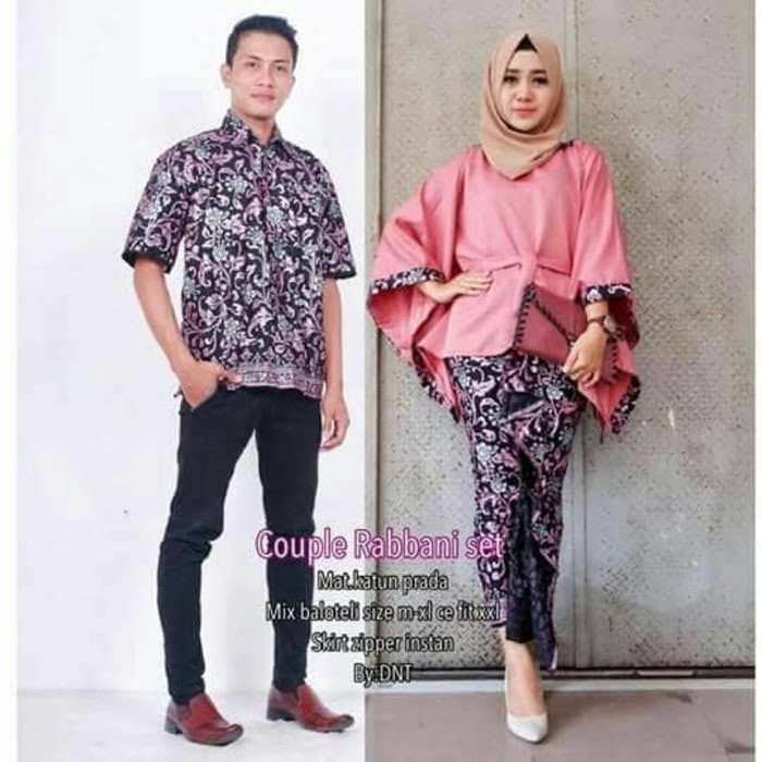Jual batik couple rabbani set - MURAH - batik jazz solo  dfdeb33e8c