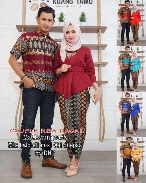 Jual kebaya kutubaru   couple batik modern new naomi etnic - batik ... 47ea12e7af
