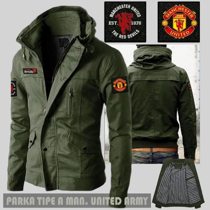 Jual Jaket Parka type A Valcro Man United (MU) Army  7a37210d86