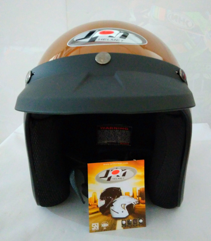 Helm bogo /retro JPN Klasik,  Brown Gloss 1