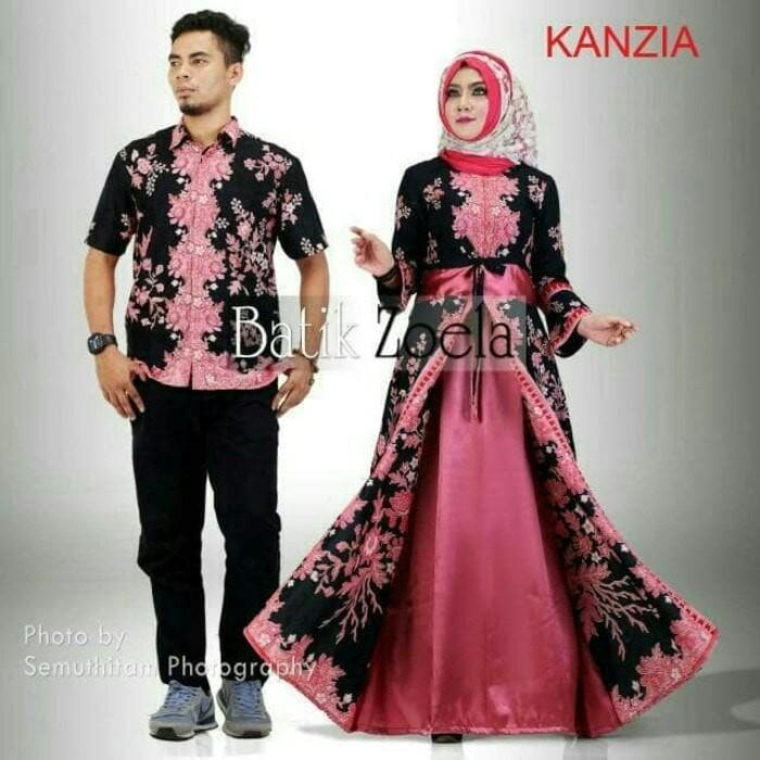 harga Baju batik couple sarimbit keluarga gamis pasangan kanzia baju muslim  Tokopedia.com 8251de5cff