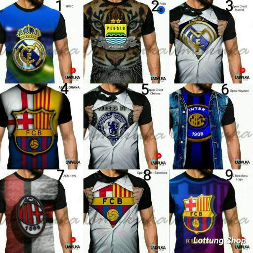 harga Baju kaos distro 3d football foot ball club klub sepakbola sepak bola Tokopedia.com