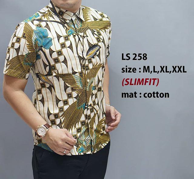 harga Batik pria elegant / kemeja batik pria ls 258 Tokopedia.com