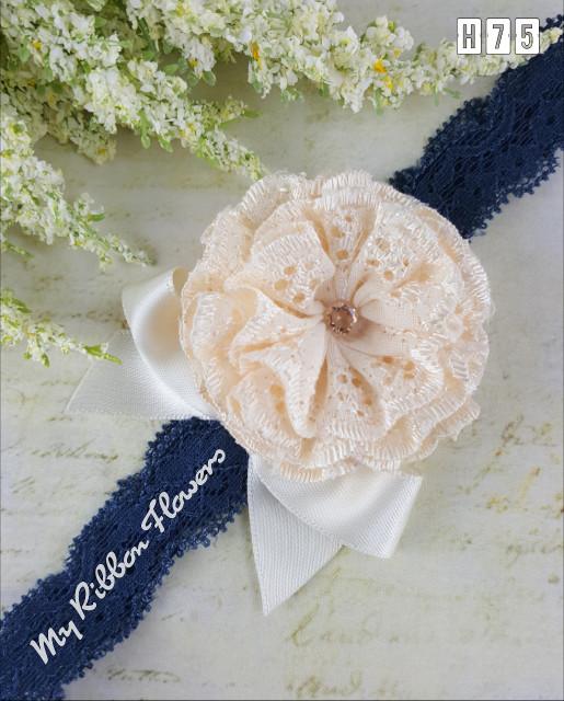Myribbonflowers bandana bayi bando anak baby headband princess h75