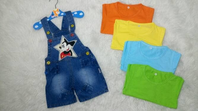 harga Baju kodok-baju anak bayi laki-laki baju overall perempuan mickey Tokopedia.com