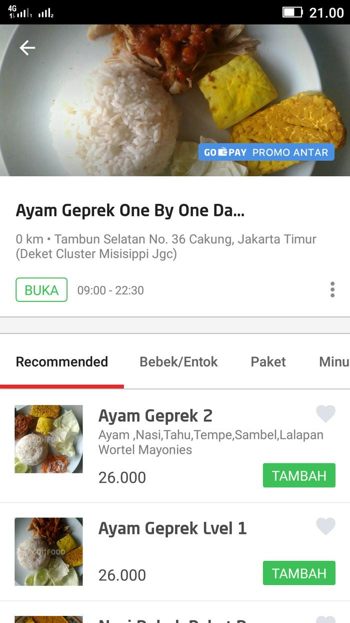 Jual Ayam Geprek One By One Dan Bebek Entog Betawi Untuk Di Gofood Gojek Jakarta Timur Fajar Mandiri Jasa