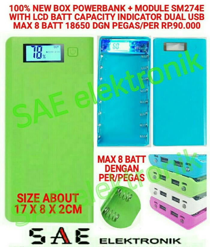 harga Sm274e box powerbank exchangeable with lcd 8batt 18650 dgn pegas per Tokopedia.com