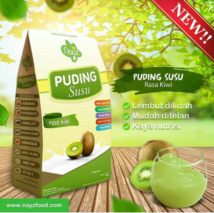 harga Nayz puding susu rasa kiwi Tokopedia.com