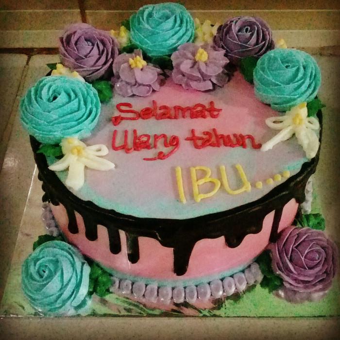 Jual Kue Ulangtahun Istri Birthday Cake Kue Ultah Murah Jakarta Utara Dapur Mawar 12 Tokopedia