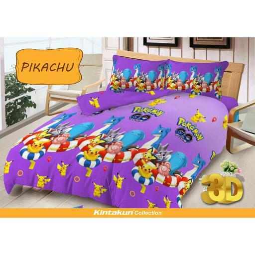 harga Sprei sorong single 2 in 1 kintakun deluxe 120x200 cm motif pikachu Tokopedia.com