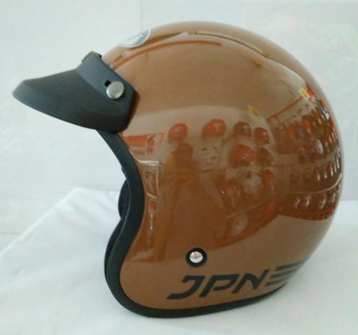 Helm bogo /retro JPN Klasik,  Brown Gloss 2