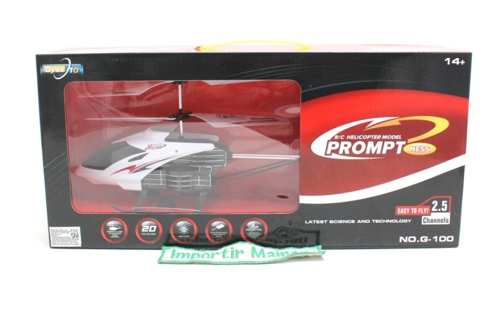 harga Rc helikopter g100 2.5ch rc helicopter 2.5ch g-100 prompt ness Tokopedia.com
